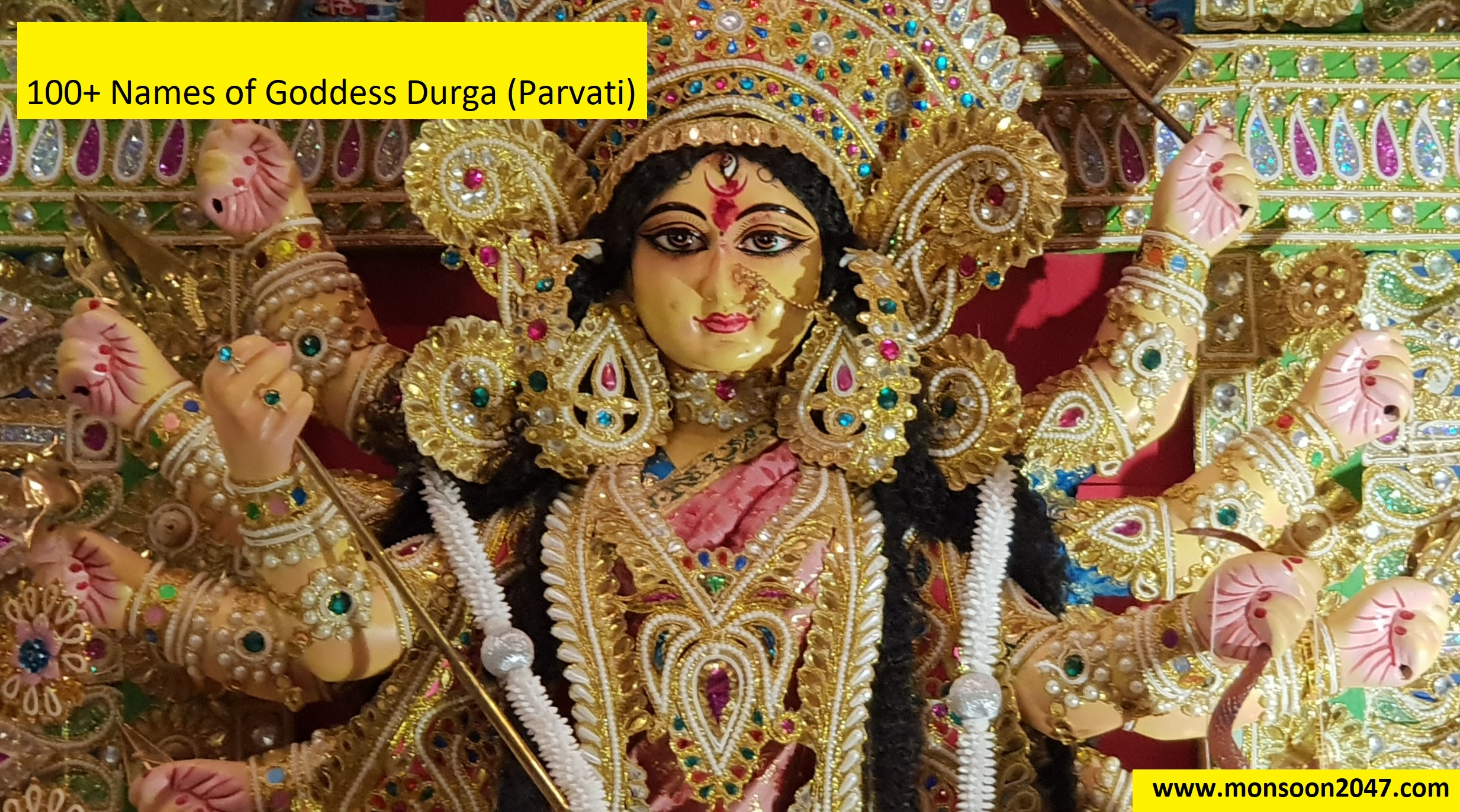 100+ Names of Goddess Durga